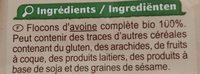 Flocons d'avoine - Ingrédients - fr