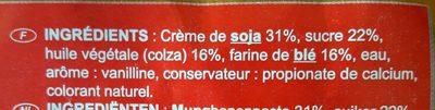 Gâteau à la pâte de soja - Ingrédients - fr