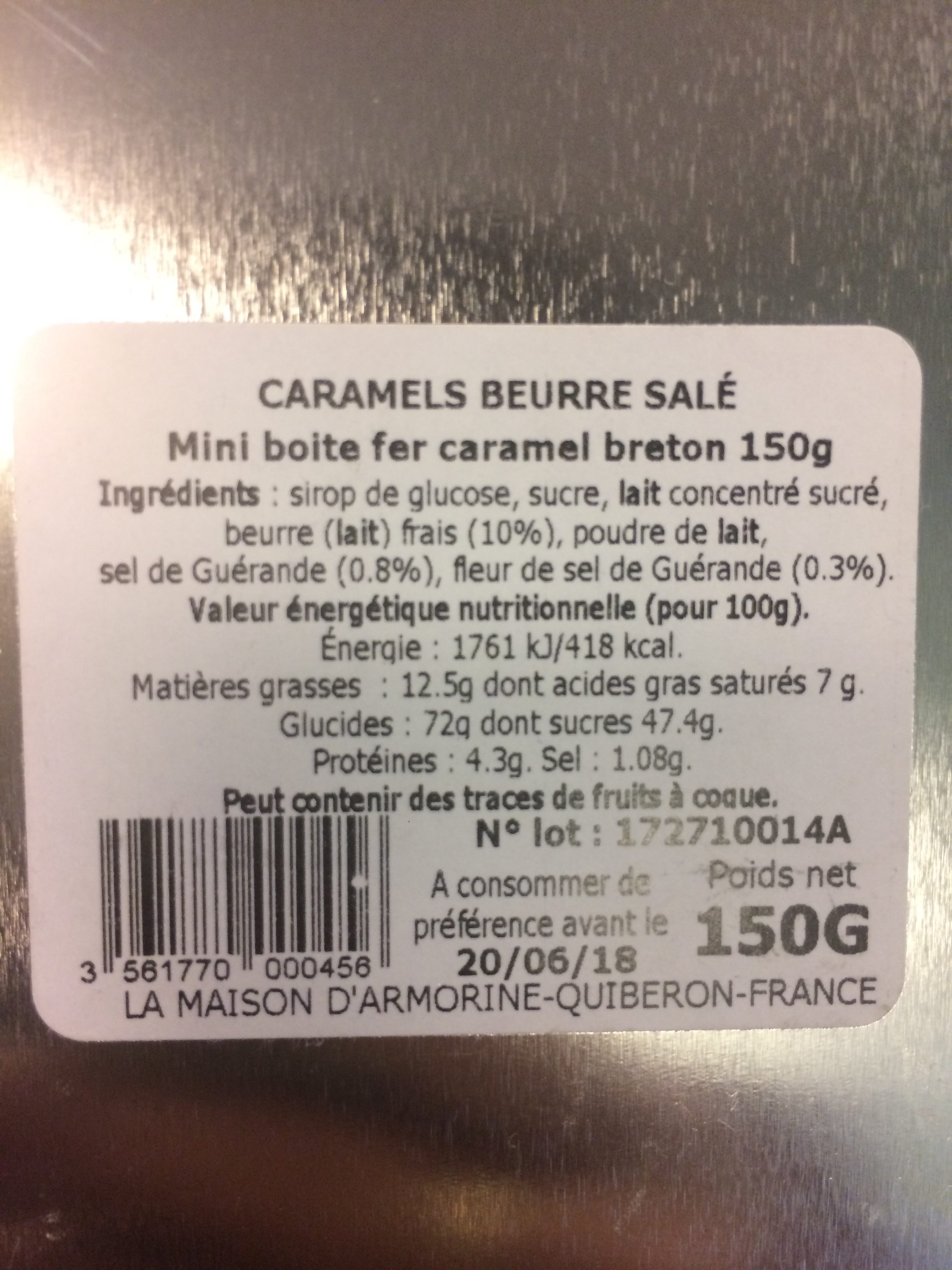 Caramel  beurre  salé - Ingredients