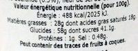Crème De Caramel Au Beurre Salé 150 - Nutrition facts