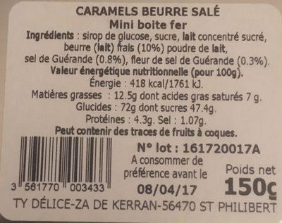Caramels au beurre salé - Ingredients