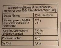 Caramels au beurre salé - Nutrition facts