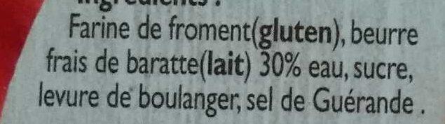 Kouign-Amann - Ingrédients