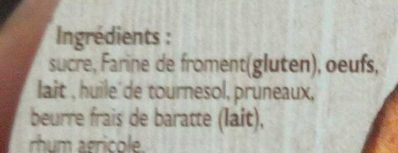 Far Breton aux Pruneaux - Ingrédients - fr