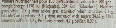 Far Breton aux Pruneaux - Informations nutritionnelles - fr