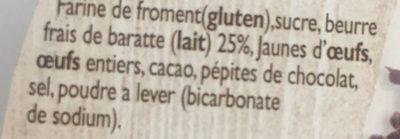 Gâteau Breton (au Chocolat) - Ingrédients - fr