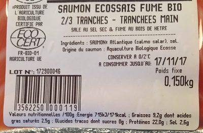 Saumon ecossais - Ingrédients - fr