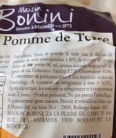 Gnocchi de pomme de terre BONINI - Ingredients