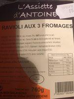 Ravioli 3 fromages - Produit - fr