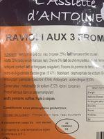 Ravioli 3 fromages - Ingrédients - fr