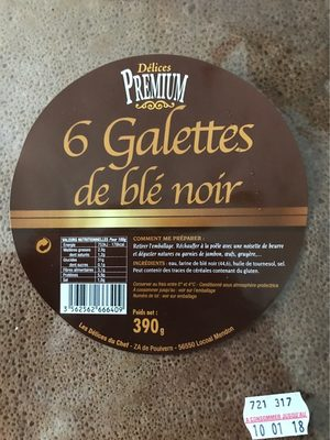 6 galettes de blé noir - Produit