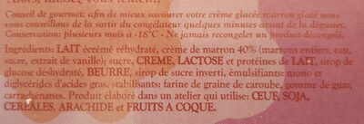 Marron glacé - Crème glacé - Ingredients - fr