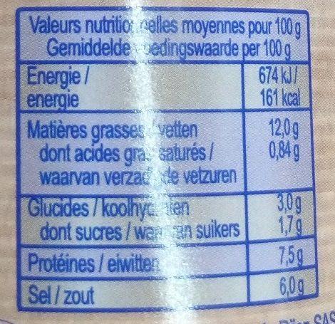 Moutarde de Dijon Bio - Nährwertangaben - fr