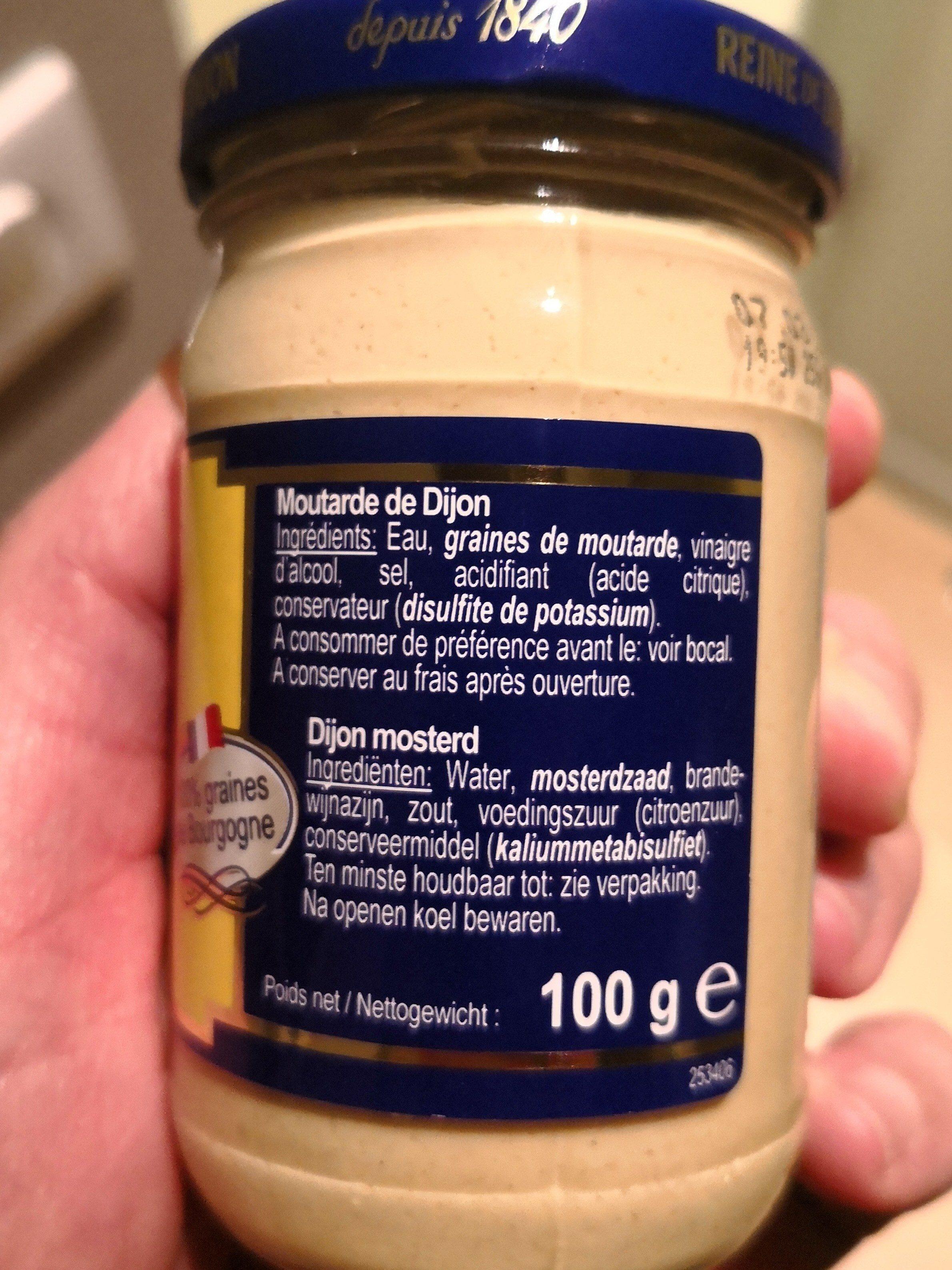 Reine Dijon Most.ex-fuerte 100 - Ingredientes