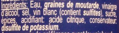 Moutarde à l'Ancienne - Ingrédients
