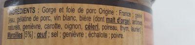 Terrine au Maroilles - Ingrédients