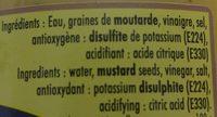 Moutarde De Dijon 370 GR SV - Ingrédients