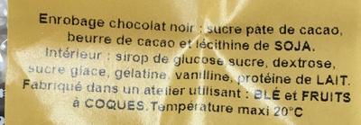 Coeurs de Guimauve - Ingredients
