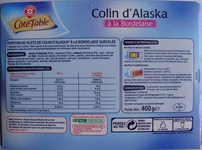 Colin d'Alaska à la Bordelaise - 6