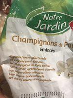 Champignons émincés surgelés - Ingredients - fr