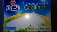 4 portions de filet de Cabillaud - Product