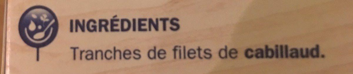 4 portions de filet de Cabillaud - Ingredients