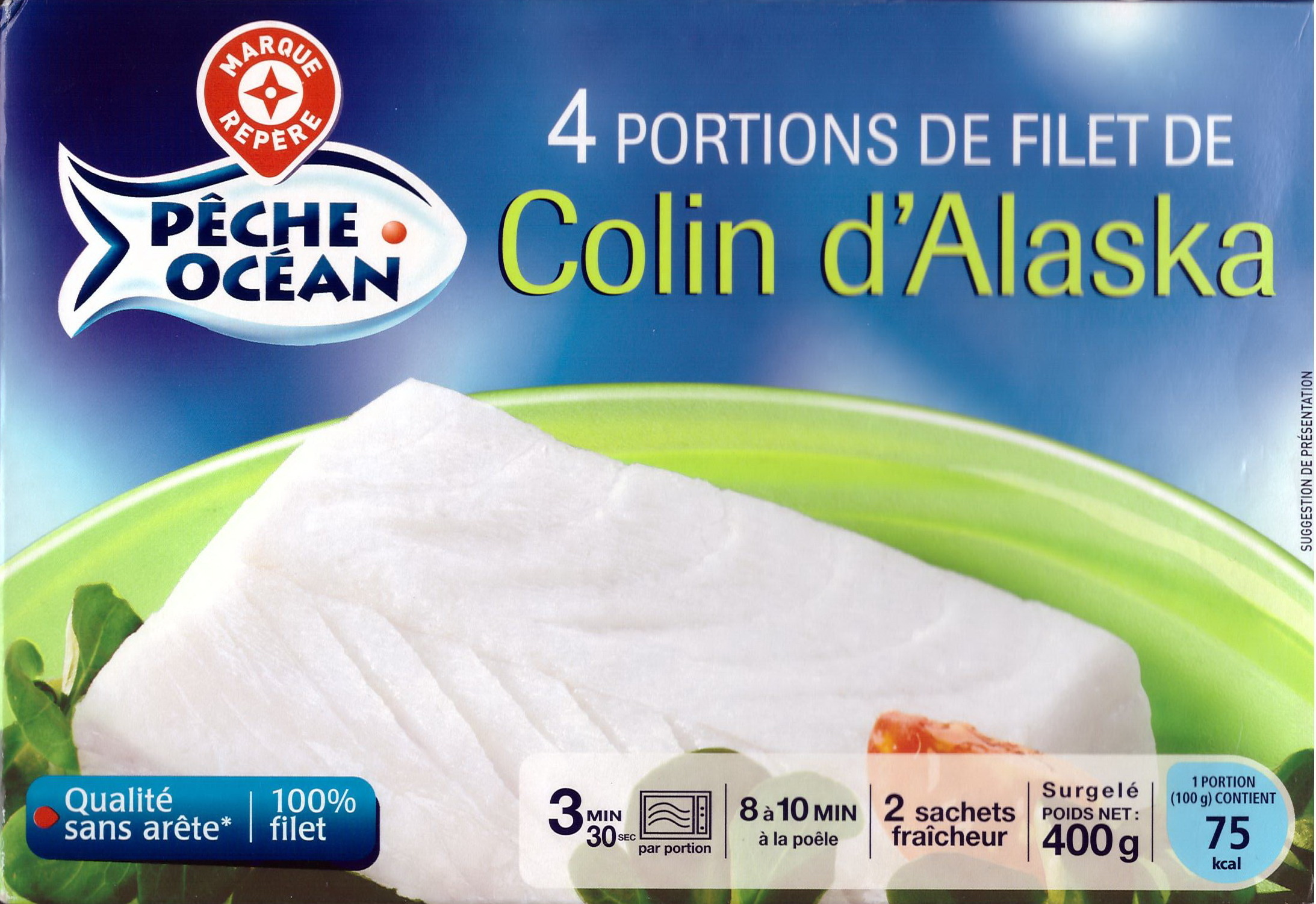 4 portions de filet de colin d 39 alaska surgel p che - Cuisiner du colin surgele ...