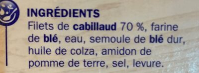 Tranches panées de Cabillaud x8 - Ingrédients - fr