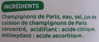 Champignons de Paris entiers - Ingrediënten - fr