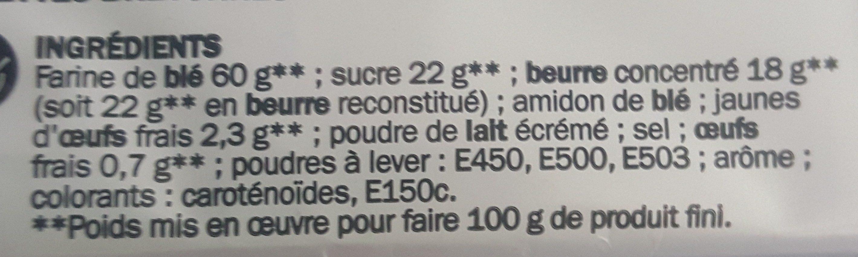 Galettes bretonnes x 16 - Ingrédients