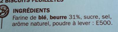 Palmiers - Ingredients - fr