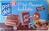 P'tit-beurre tablette chocolat au lait - Product