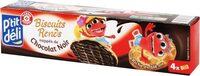 Biscuits ronds nappés de chocolat noir - Product