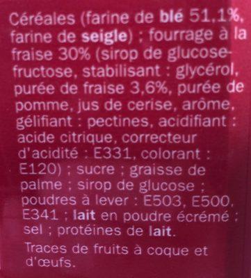 Goûters fourrés carrés fraise x 16 - Ingredients - fr