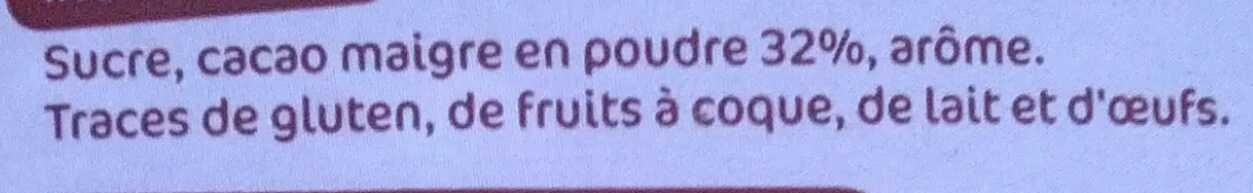 Petit-déjeuner chocolaté - Ingrédients - fr