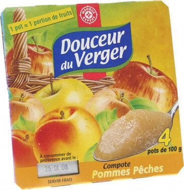 Compotes pomme pêche - Prodotto - fr