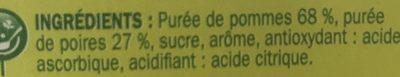 Spécialité fruits pom poire - Ingrédients - fr