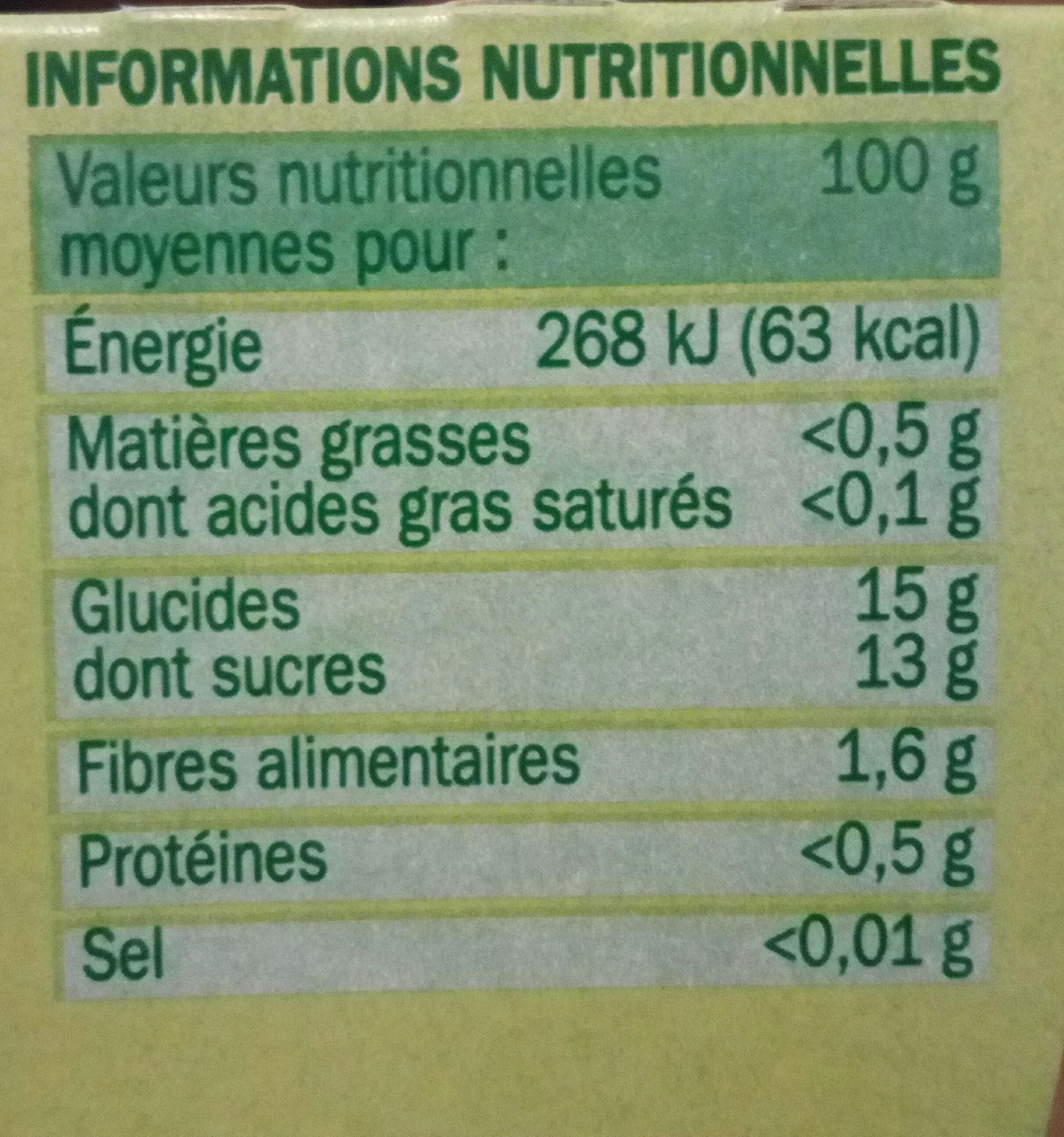 Spécialité fruits pom poire - Informations nutritionnelles - fr