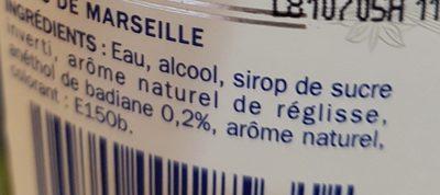 Pastis Marseille - Ingredienti - fr