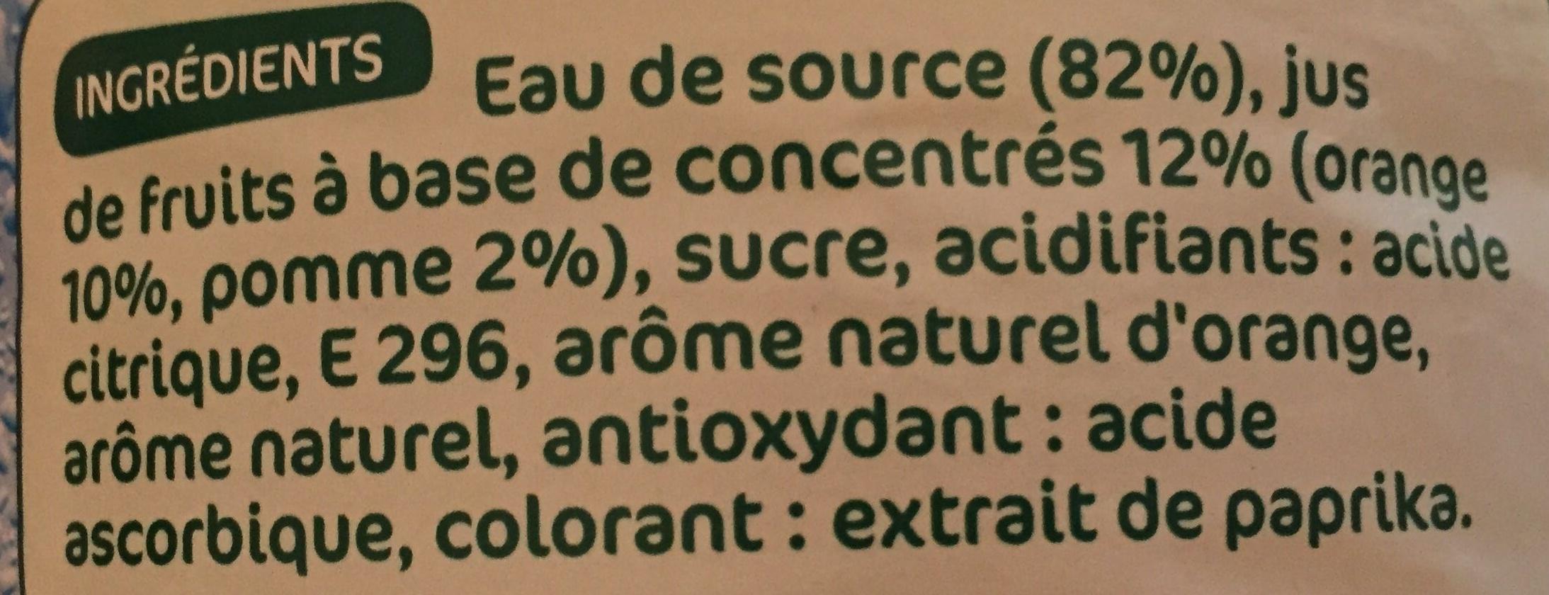 Boisson aux fruits orange - Ingredients