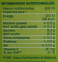 Jus d'orange - Voedingswaarden - fr