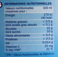 Nectar d'orange - Ingredienti - fr