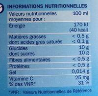 Nectar d'orange - Valori nutrizionali - fr