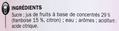 Sirop de framboise - Ingrediënten - fr