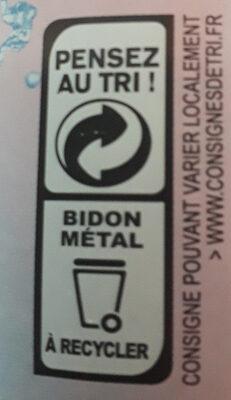 Sirop de framboise - Recyclinginstructies en / of verpakkingsinformatie - fr