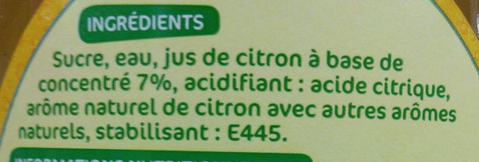 Sirop de citron pur sucre frucci 1 l - Acide citrique leclerc ...