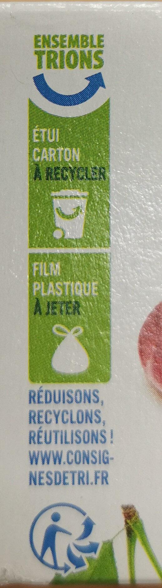 Génoises fourrées à la cerise nappées de chocolat blanc - Instruction de recyclage et/ou information d'emballage - fr