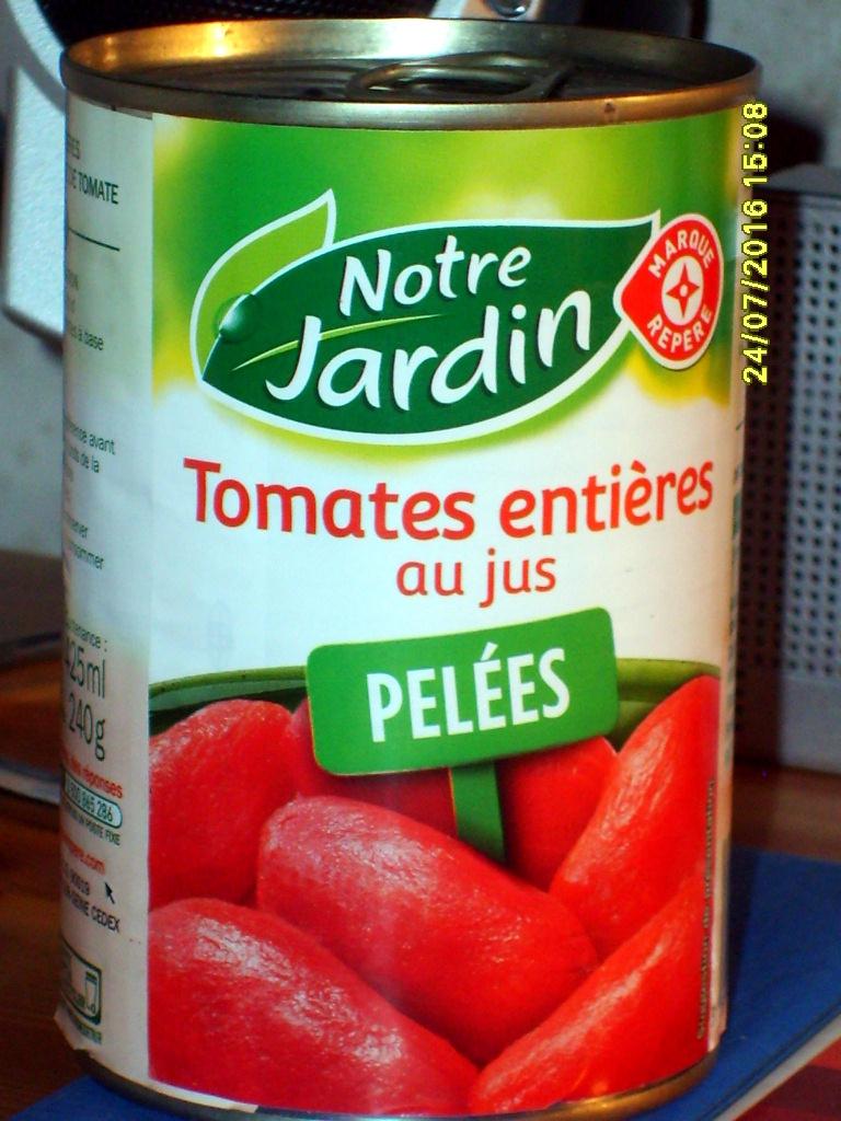 Tomates entières pelées au jus - Producto