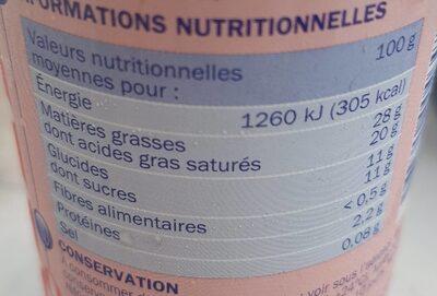 Crème sucrée - Nutrition facts - fr
