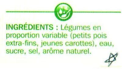 Petits pois Jeunes carottes à l'étuvée ♦ extras-Fins - Ingrediënten
